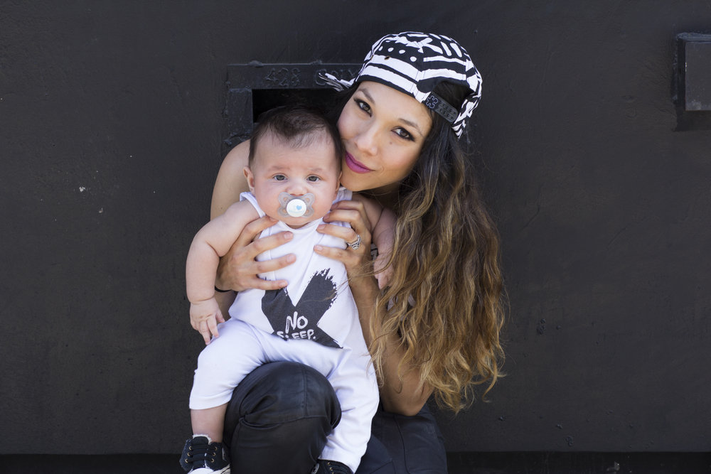 Ashlee Nino and her son, Zephyr ( pictured here at 3 Months) - Photography by SMAC