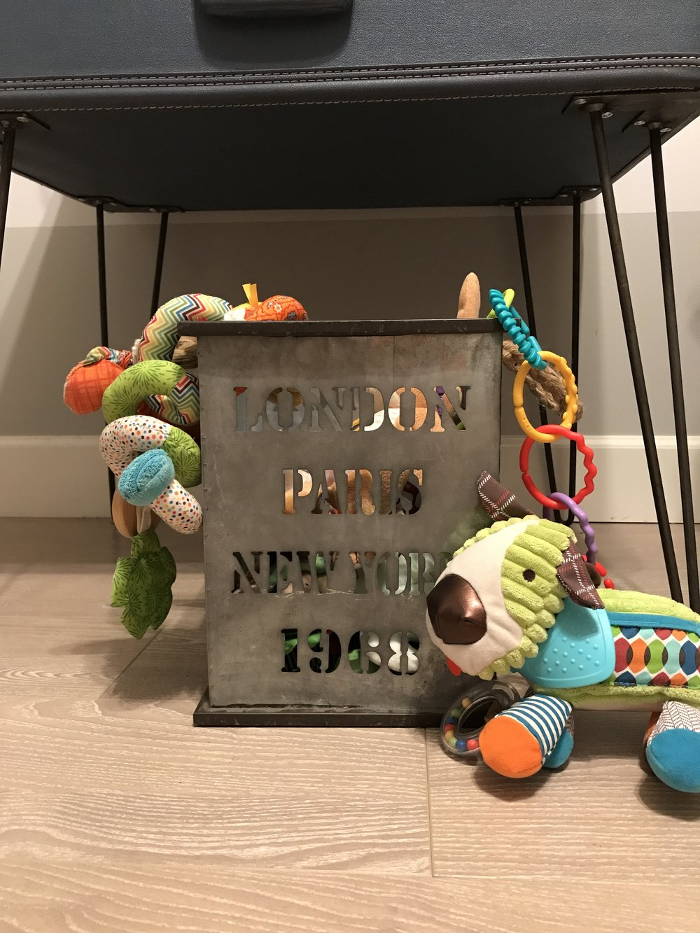 STORAGE IS KEY! - Finding creative ways to store all of the baby stuff was really important to me.