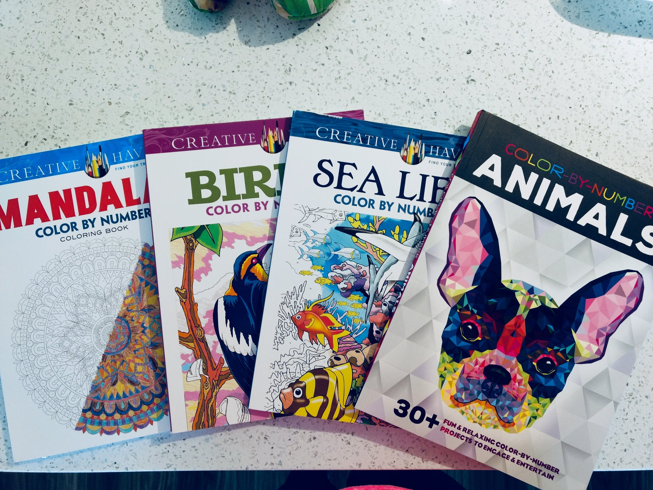 I\'ve got four new colour by number books — Gotta Blog This