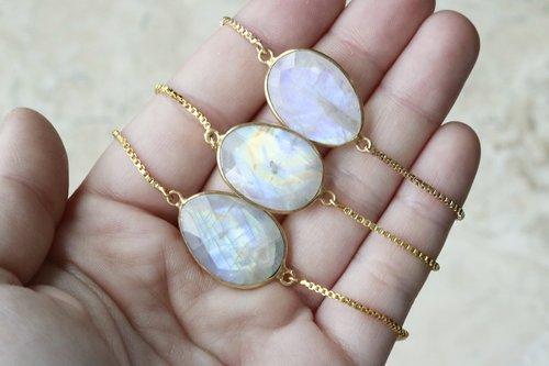 eternity bracelet rainbow moonstone universal by nature