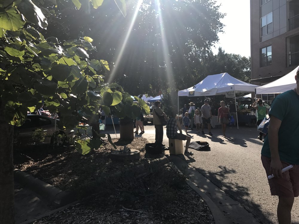 Lawrence Farmers Market, with live music, and a little bit of everything.