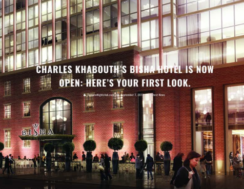 TORONTO NIGHT CLUB Charles Khabouth's Bisha Hotel Is Now Open