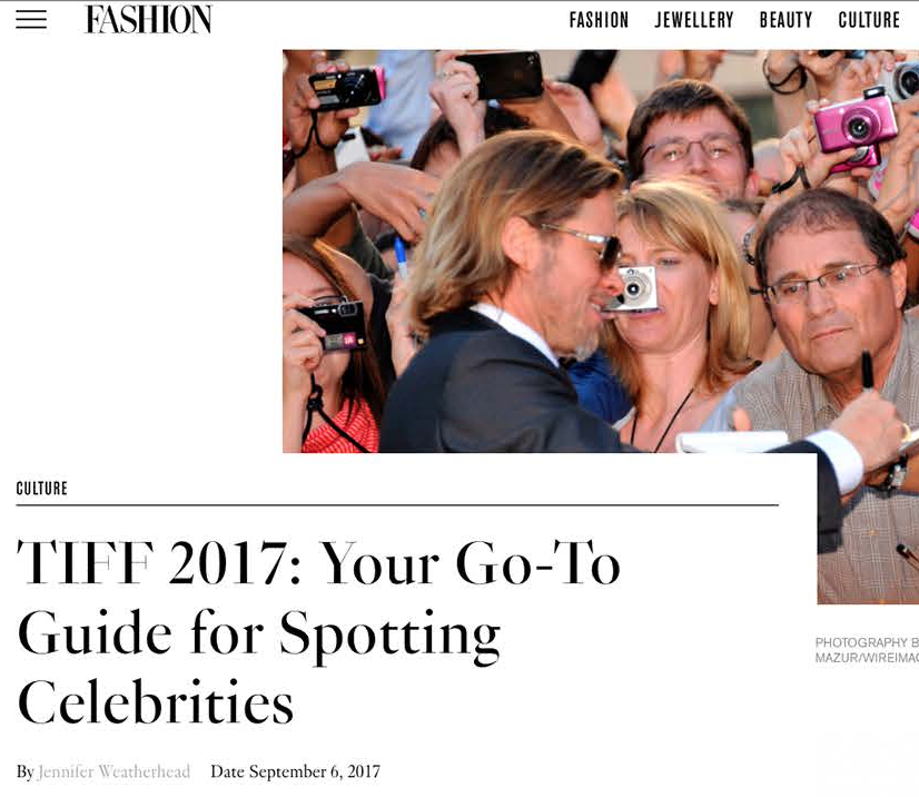 FASHION TIFF 2017: Your Go-To Guide for Spotting Celebrities