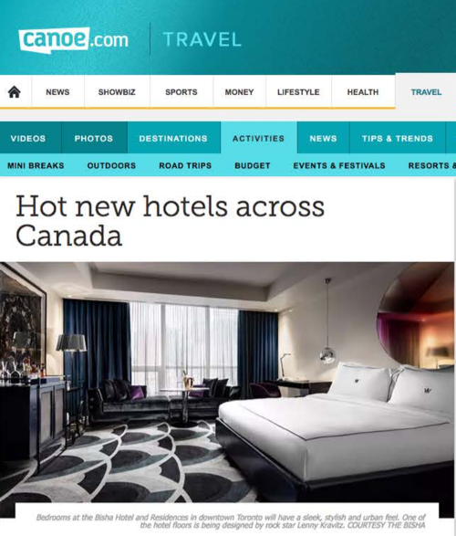 CANOE Hot New Hotels Across Canada