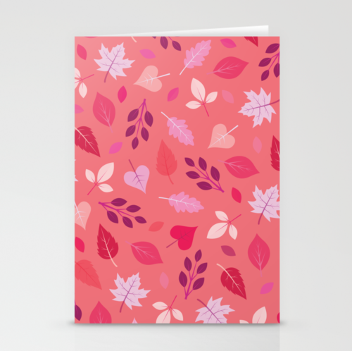 so many leaves stationery cards patterns for dessert
