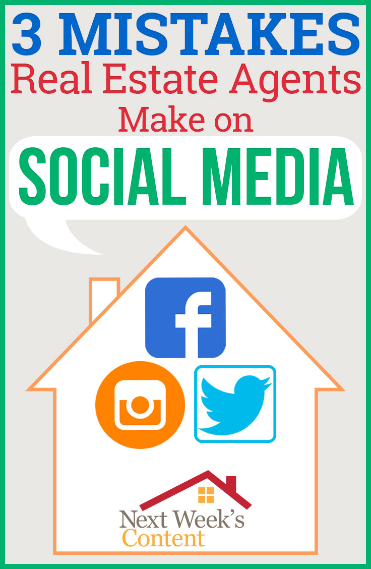 Mistakes real estate agents make on social media