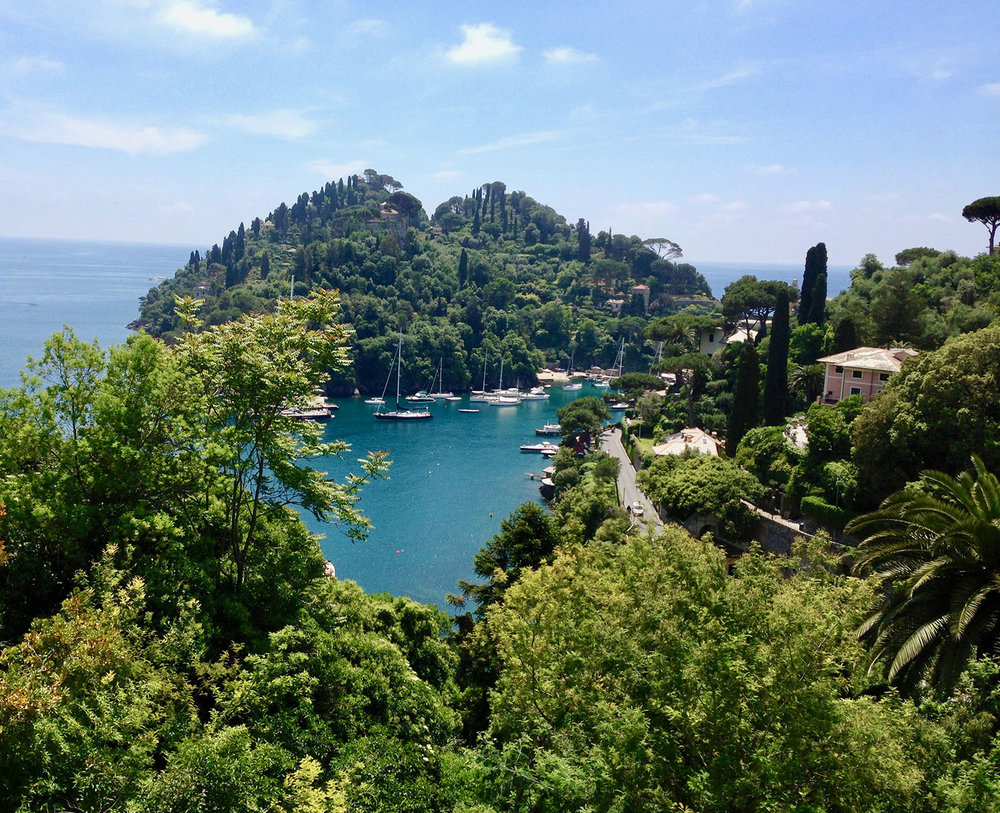 View of Portofino harbour from Belmond Hotel Splendido