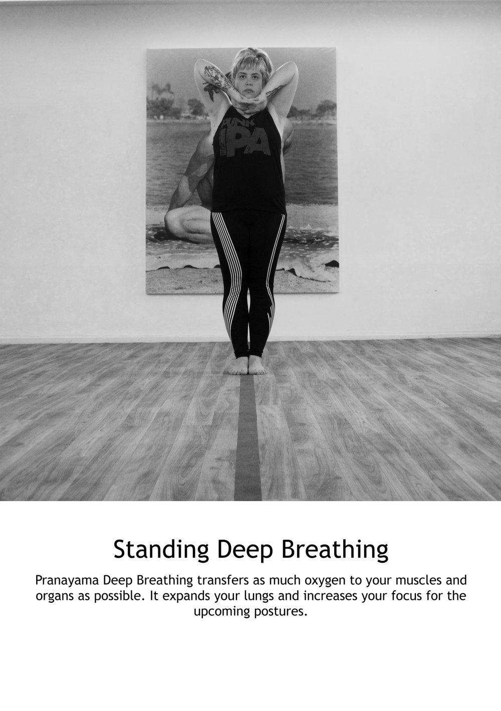 Standing Deep Breathing
