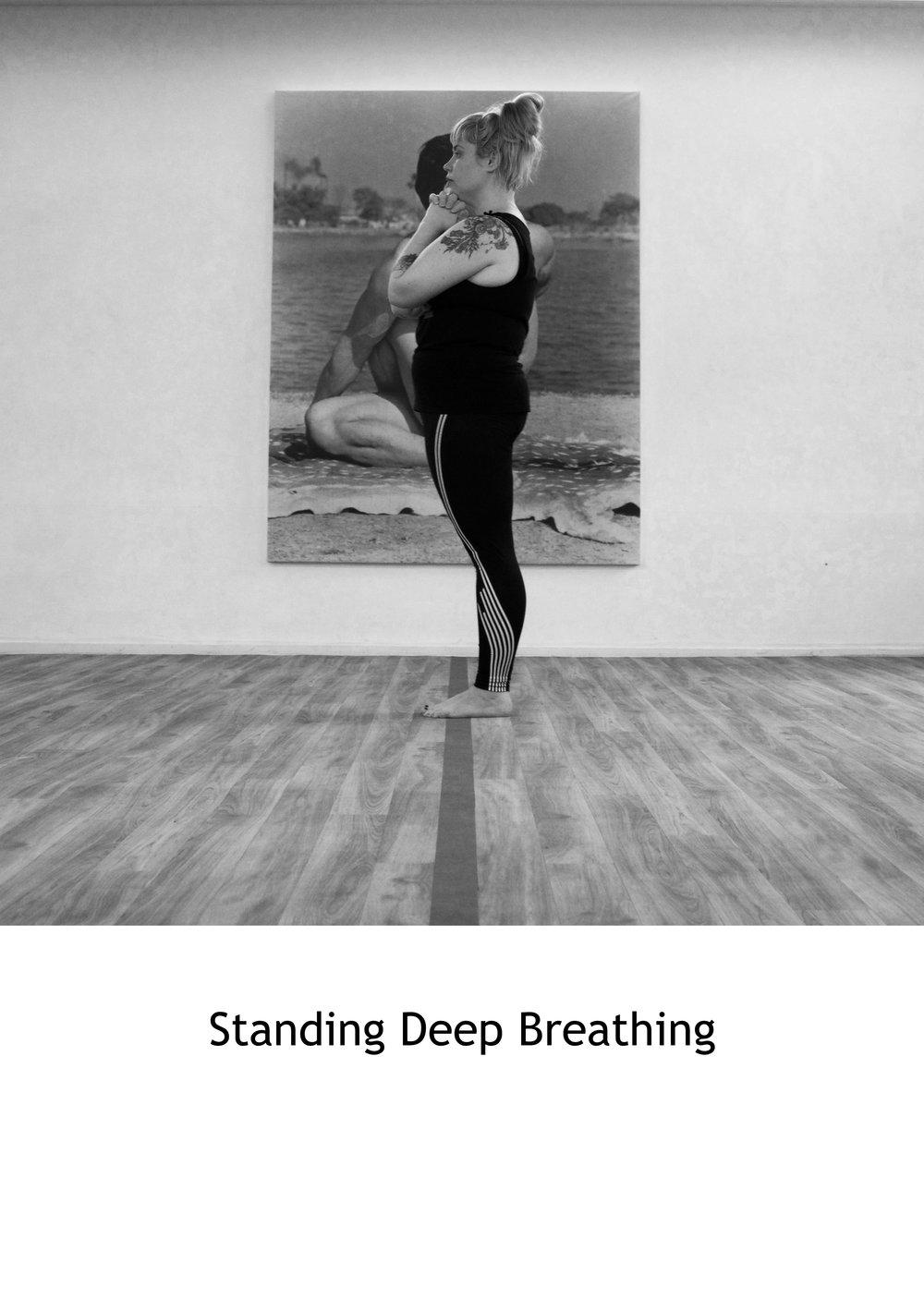 Standing Deep Breathing Side