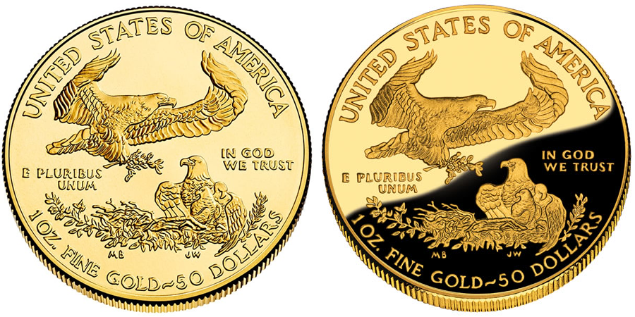 Standard American Eagle Coin vs Proof