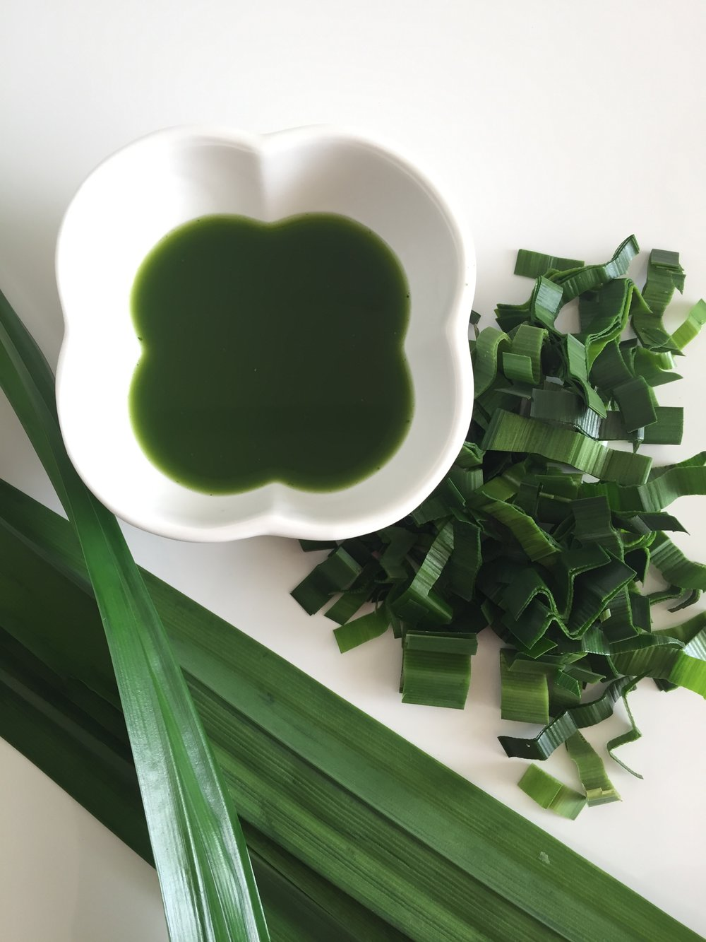 Our natural Pandan essence is made with love in our kitchen.