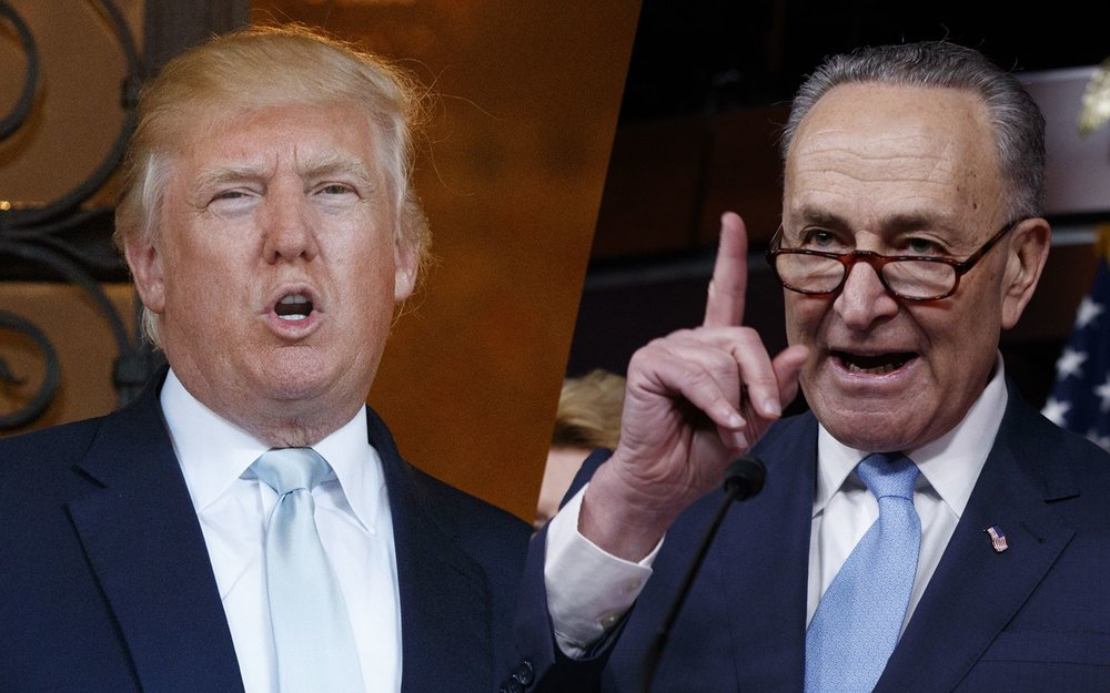 Donald Trump and Chuck Schumer have engaged publicly over the Comey firing in recent days