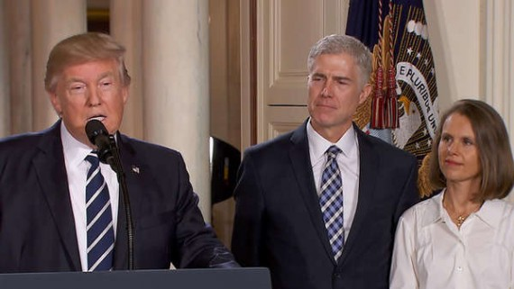Numerous Democratic politicians opposed President Trump's nominee for the Supreme Court, Neil Gorsuch. Many conservatives claimed such opposition was merely an overarching partisan opposition to Trump.