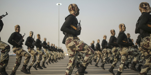 Soldiers train for combat as part of the Saudi-led anti-terror coalition, consisting of 34 muslim countries
