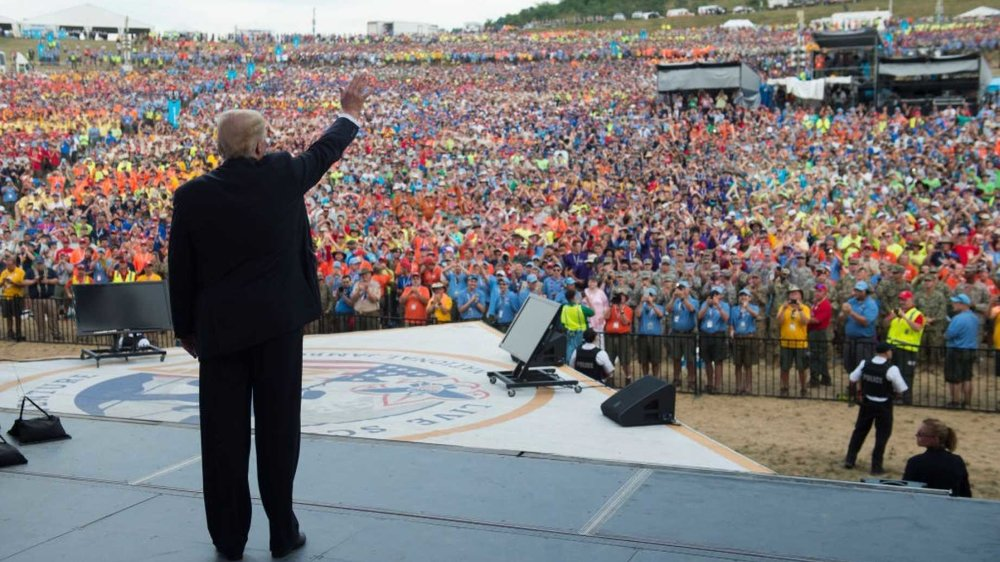 Trump continues to use normal Presidential duties an opportunity to inappropriately gripe about the media and other political matters,  doing so again at a speech to Boy Scouts of America on Tuesday