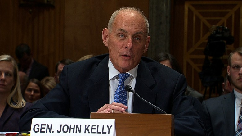 John F. Kelly is a former four star general who Trump chose to lead the Department of Homeland Security earlier this year.