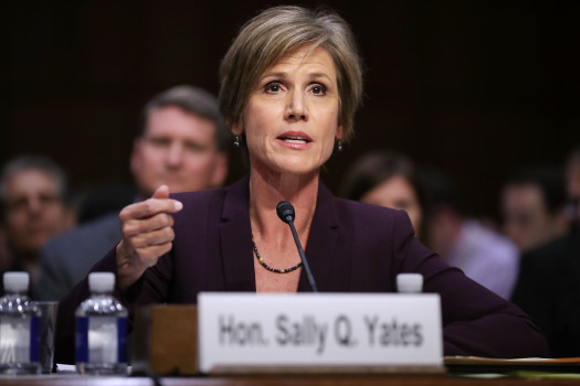 Trump fired Assistant Attorney General Sally Yates earlier this year after she instructed Justice Department lawyers not to defend his travel ban
