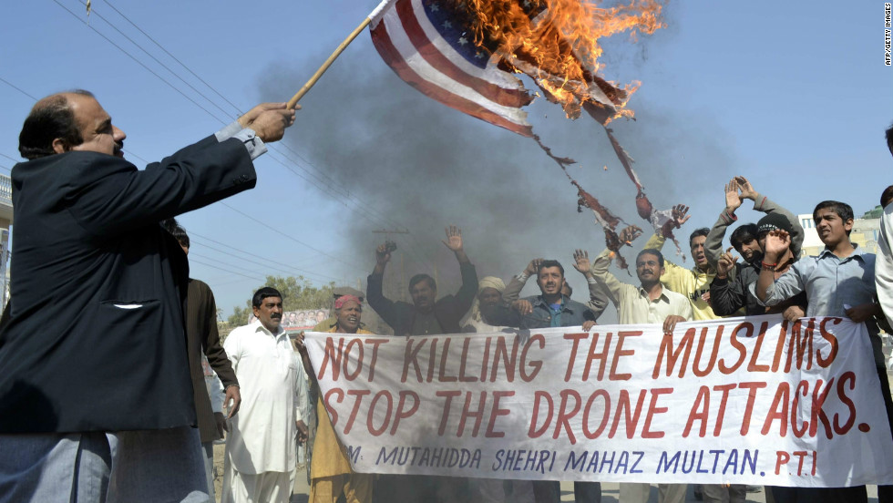 Drone strikes resulting in civilian casualties have drawn anti-American protests since the beginning of the conflict in the Middle East