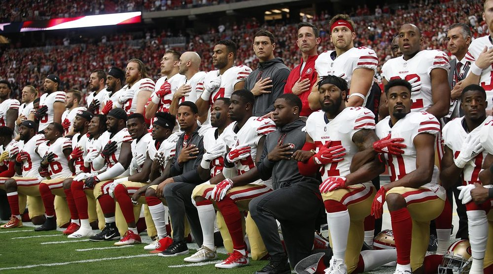 Athletes protesting the police brutality have sparked controversy due to what some consider to be anti-military sentiments