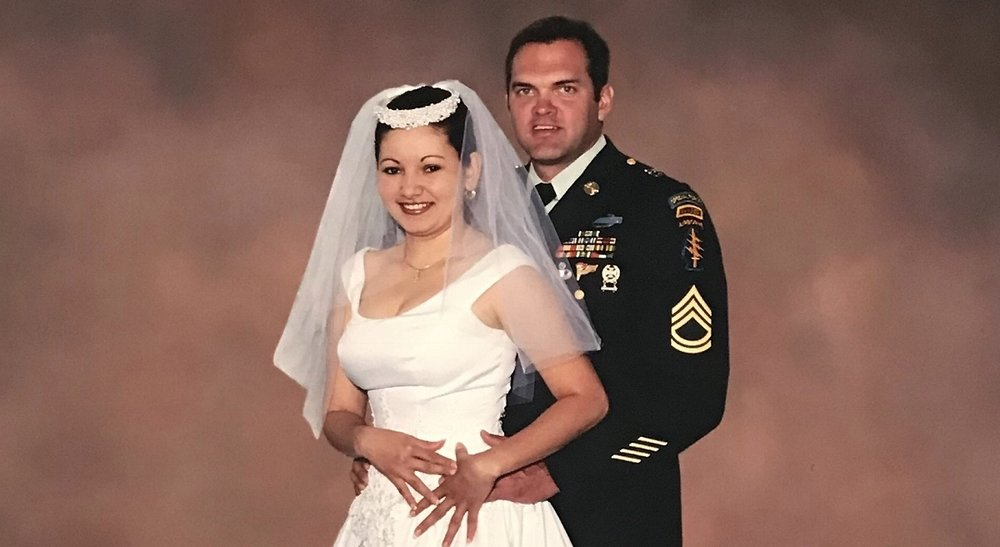 Sgt. 1st Class Bob Crawford (ret.), who served with the 7th Special Forces Group, is fighting to prevent the government from deporting his wife, Elia, to Honduras. (Courtesy of Bob Crawford.)