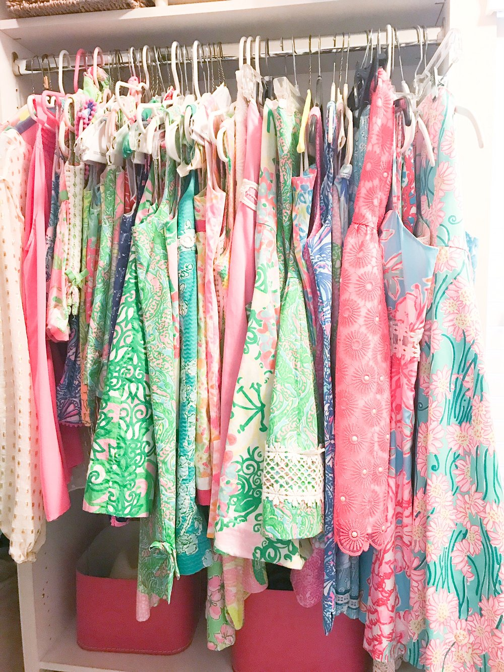 A closet full of memories in Lilly.