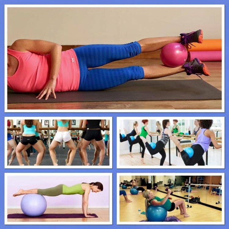 Examples of various barre and Pilates classes. That is me on bottom right in my last trimester of pregnancy.