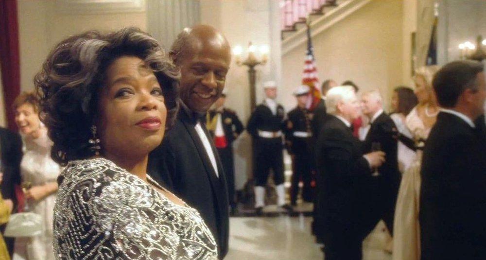 Oprah as an aged Gloria Gaines