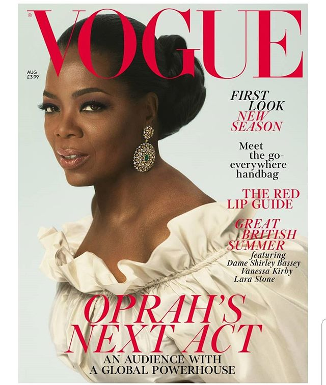 Happy #MakeupMonday #Family!!!! How #Excited am I today than to wake up and get #Text, #DM , and #Voice #Messages about @oprah Trending throughout the #net... Family, my VERY FIRST @britishvogue Cover!!! Thank You #Beauty Editor @edward_enninful and to the Photo team @mertalas and @macpiggott for a Job well done. The magazine hits the Newsstands on July 6th, so Fam throughout the month, look forward to #Stories, #Pics and #BTS Footage of this Incredibly Regal Shoot we shot in #London Making #oprah an Empress for a day !!! Scroll Left
