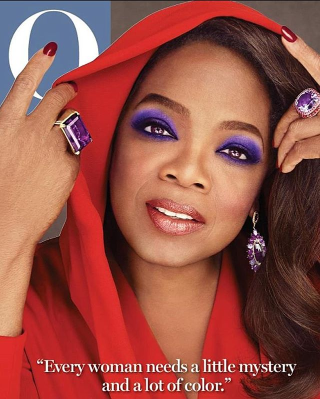 "Happy Flashback Friday Family!!! Ok Fam, because SO MANY of you made comments by either #Text, #DM, and Yes, you Even Called, I thought why not for #flashbackfriday don't we revisit #October 2014. That's when O Magazine presented you with ""Face, Face, Face, #Beauty #Face"", @oprah on 4 Different O Magazine covers, ALL in the same Issue. For 12 hours, I Literally put #Makeup On and Washed it off, and started over again, 3 times, to give you 4 of my Most #Beautiful, #Colorful, and #Memorable Covers to date!!! Sponsored by @Maybelline, the premise of the Shoot, was to show you how Makeup plays an Important Role in Changing your Looks using your #Eyes and #Lips as a Creative #Canvas!!! And Yes, I Pulled it Off!! I just #Love Doing Makeup, there's Nothing Like It!!! I #Tear, I #Tingle, and I Light Up, as I watch a #Transformation Take place!!!! But there was one thing that #oprah says to @NancyoDell, of Entertainment Tonight, during her Interview that is SO TRUE,  when Nancy says, ""That was 12 hours, How do you do it?  and Oprah says, ""When You Love What You Do, It Fuels You""!!! And She's Right!!!!! So Scroll Left"