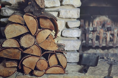 4.     Collect and stack firewood by your hearth or just outside the door.  It is a great activity for kids, will look inspiring to make you envision cozy nights in front of the fireplace sipping cider and binging on Halloween candy, and will be a constant reminder that those days are truly just around the corner.