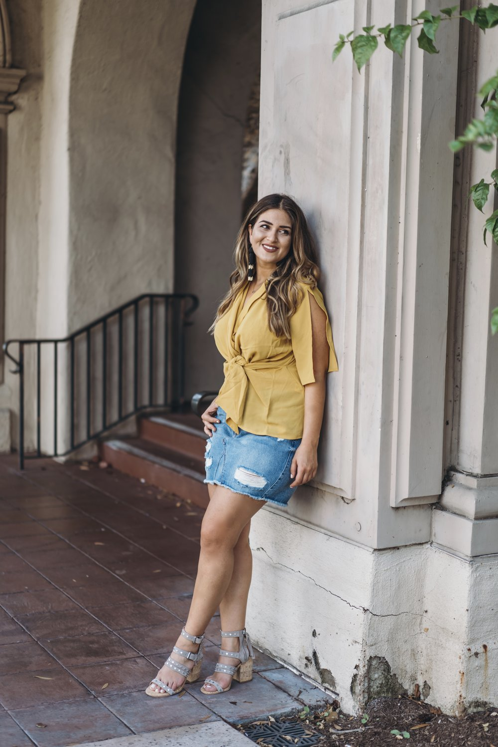 8387e2333f This Lulu's Denim Skirt: This is a great, basic denim mini to pair with  everything and anything. It even comes in a lighter wash and other colors!