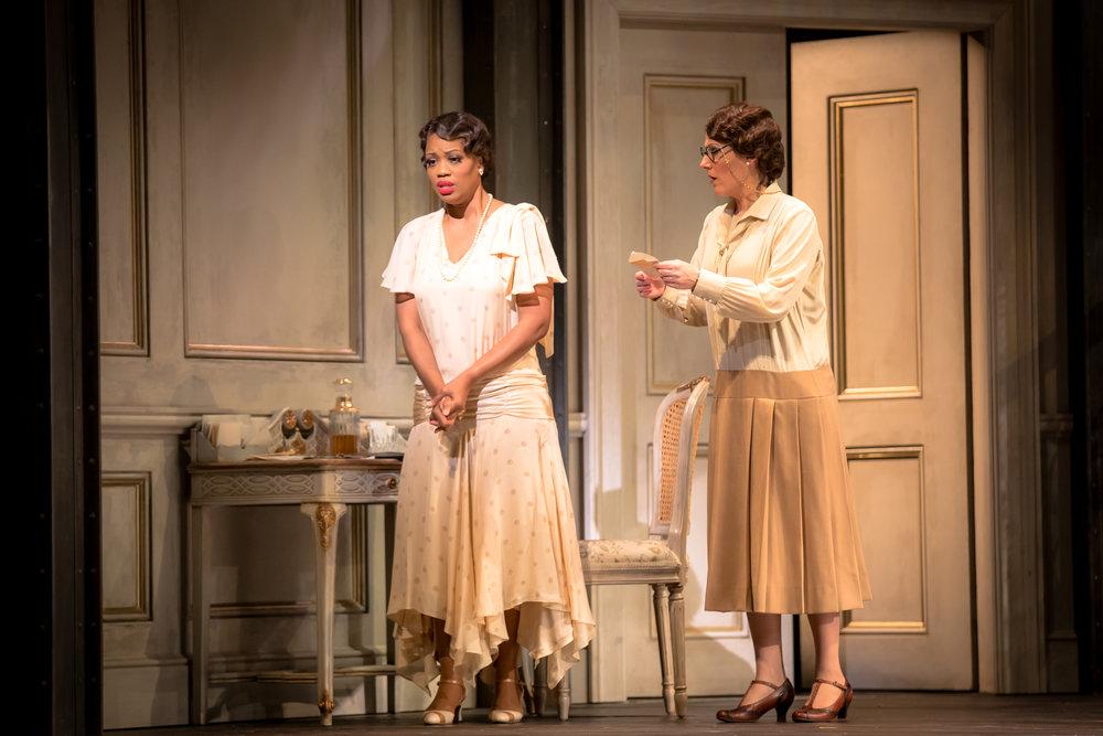 Violetta (Laquita Mitchell) and Annina (Cara McLeod)