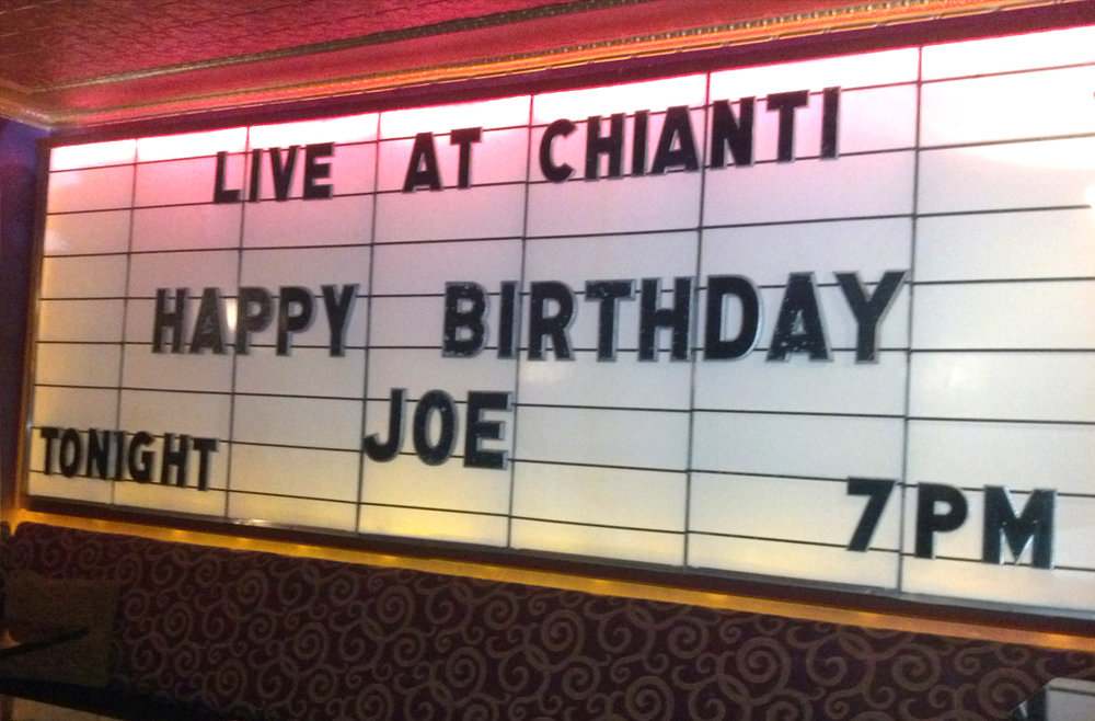 Have your guest of honors name on our marquee in the V.I.P. loft.
