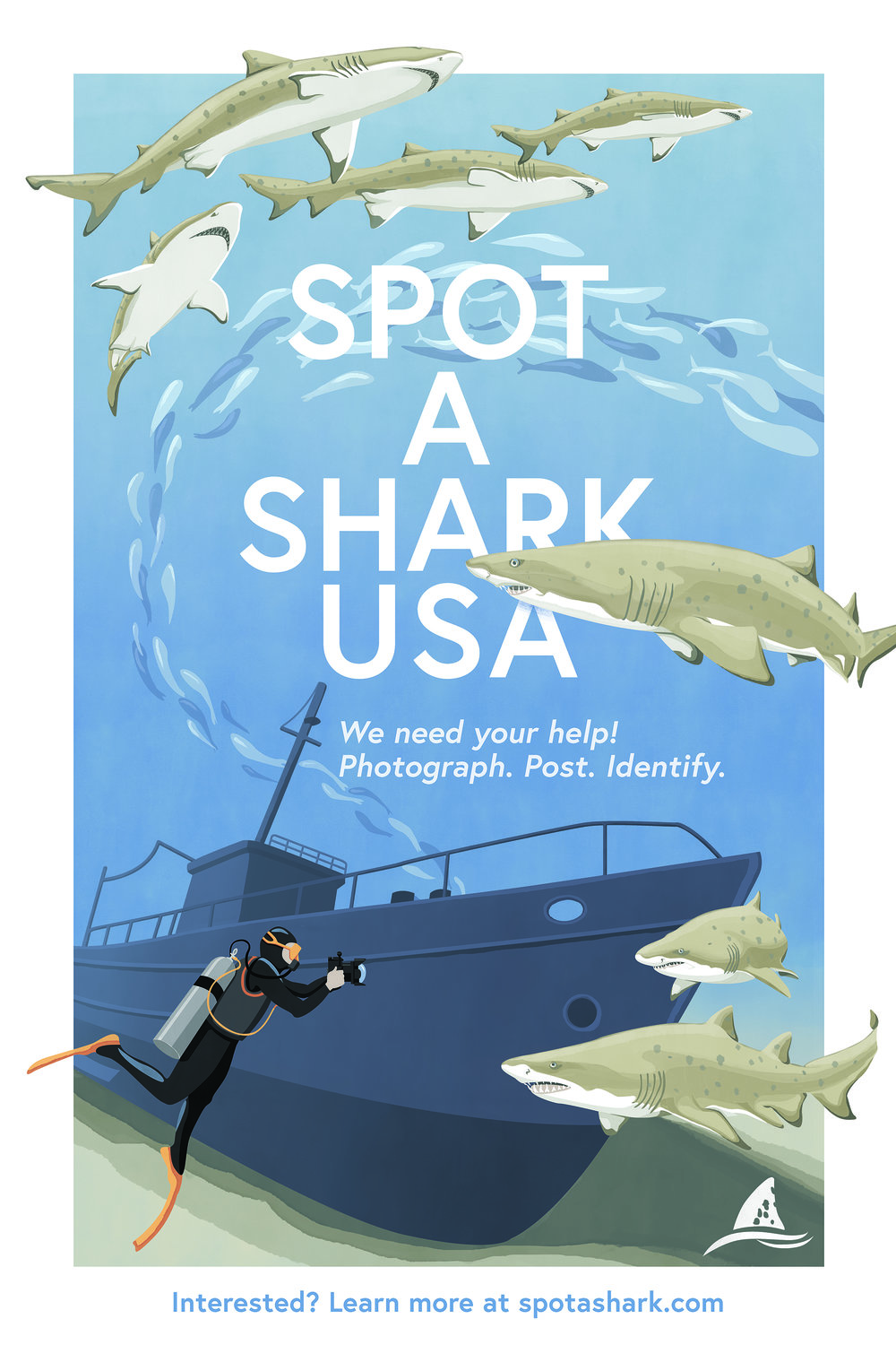 Spot a Shark USA - Alex teamed with Spot A Shark USA, a citizen-science program promoting Sand Tiger Shark conservation, to create a collection of outreach materials for dive shops and boats along the Atlantic Coast