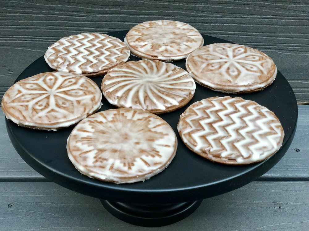 Gingerbread tiles with rum butter glaze.jpg