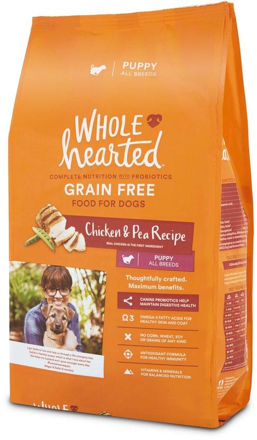 Wholehearted Grain Free Chicken Pea Recipe Puppy Dog Food