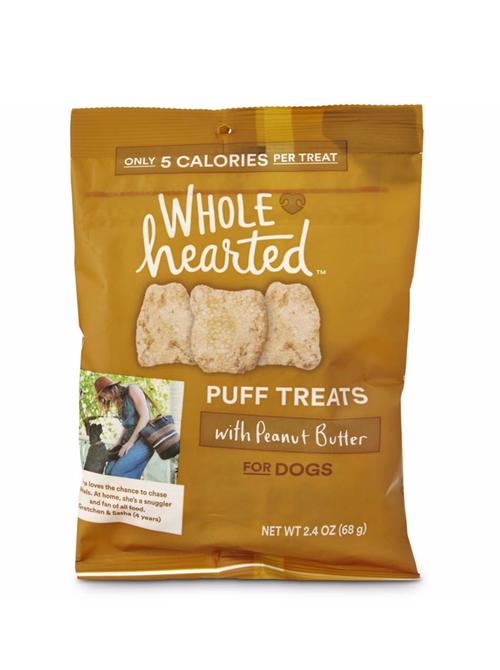 Wholehearted Dog Puff Treats Peanut Butter Wholehearted