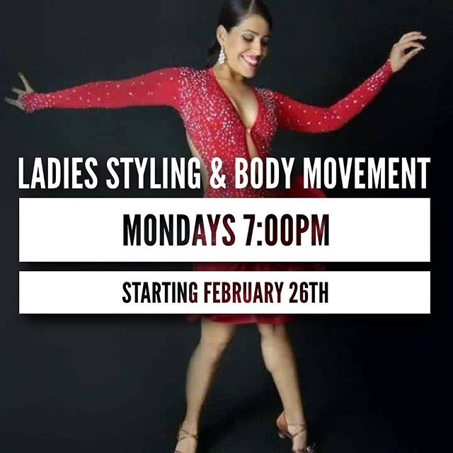 Ladies join us Monday nights at 7pm. This class emphasizes ladies technique, footwork, posture, hip movement, and arm styling. Must be approved by an instructor to attend this class. Class is not for absolute beginners, must know basic fundamentals. Questions? Just ask!  https://mambofactory.sites.zenplanner.com/loginSignup.cfm?appointmentId=CC330AE2-5424-44DA-8A24-6878BC4E7455