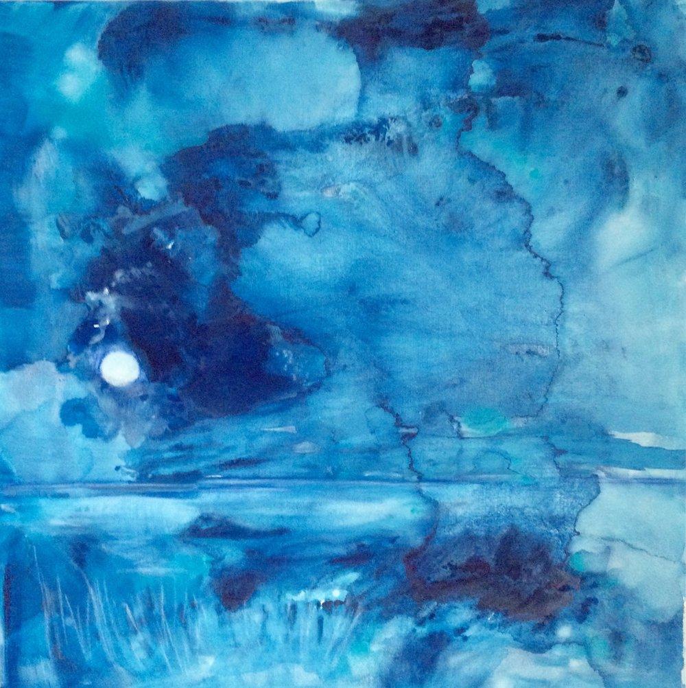 Blue Dreaming I Blaues Träumen 80x80