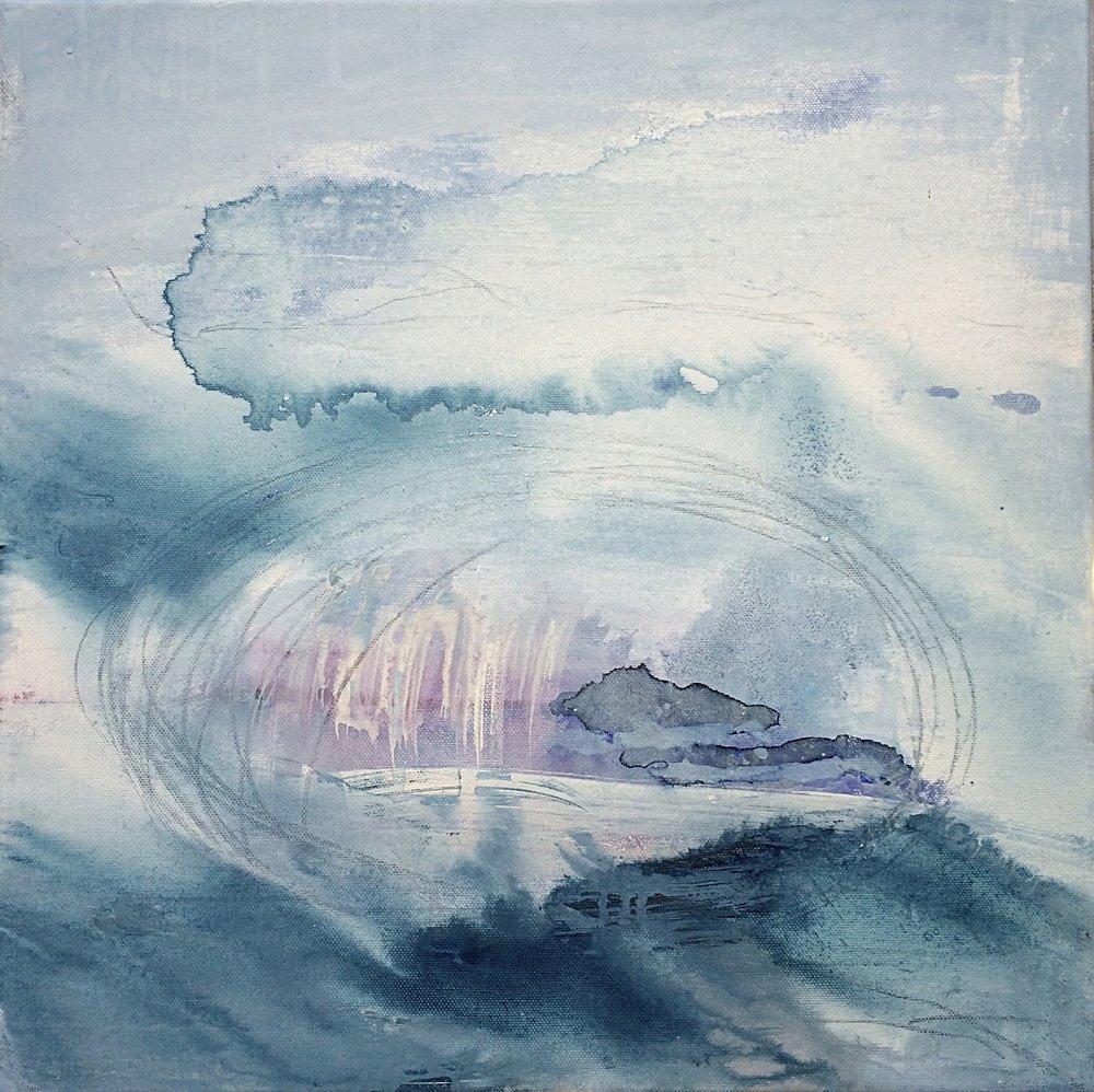 If you love me, take me to the Sea I Big Cloud 40x40
