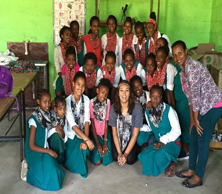 March 2016Jessica's Return to Ethiopia - With the Love for Ethiopia team, Jessica returned to Ethiopia with more material, a new teaching project, and another machine. 70 Sitota Scarves had been sold and Jessica got to pay the girls for their work. The program had officially come 1 full circle. She grew the program from 6 girls to 21 girls. She paired up the experienced sewing girls with the new girls. They worked for several days to sew scarves and kimonos. With the number one challenge being power outages, the girls were able to create 118 scarves and 27 kimonos. It was a productive trip! See 2016 Gallery