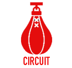 PUNCH CIRCUIT - COME KICK IT WITH US! RAMP UP YOUR CARDIO WITH THIS FULL BODY HEAVY BAG WORKOUT THAT FUSES TOGETHER BASIC KICKS AND PUNCHES. WHETHER IT'S A KICK, PUNCH, KNEE, OR ELBOW, YOU'LL BE HARD PRESSED TO FIND ANOTHER FITNESS CLASS THAT WILL GET YOU INTO SHAPE THIS FAST!