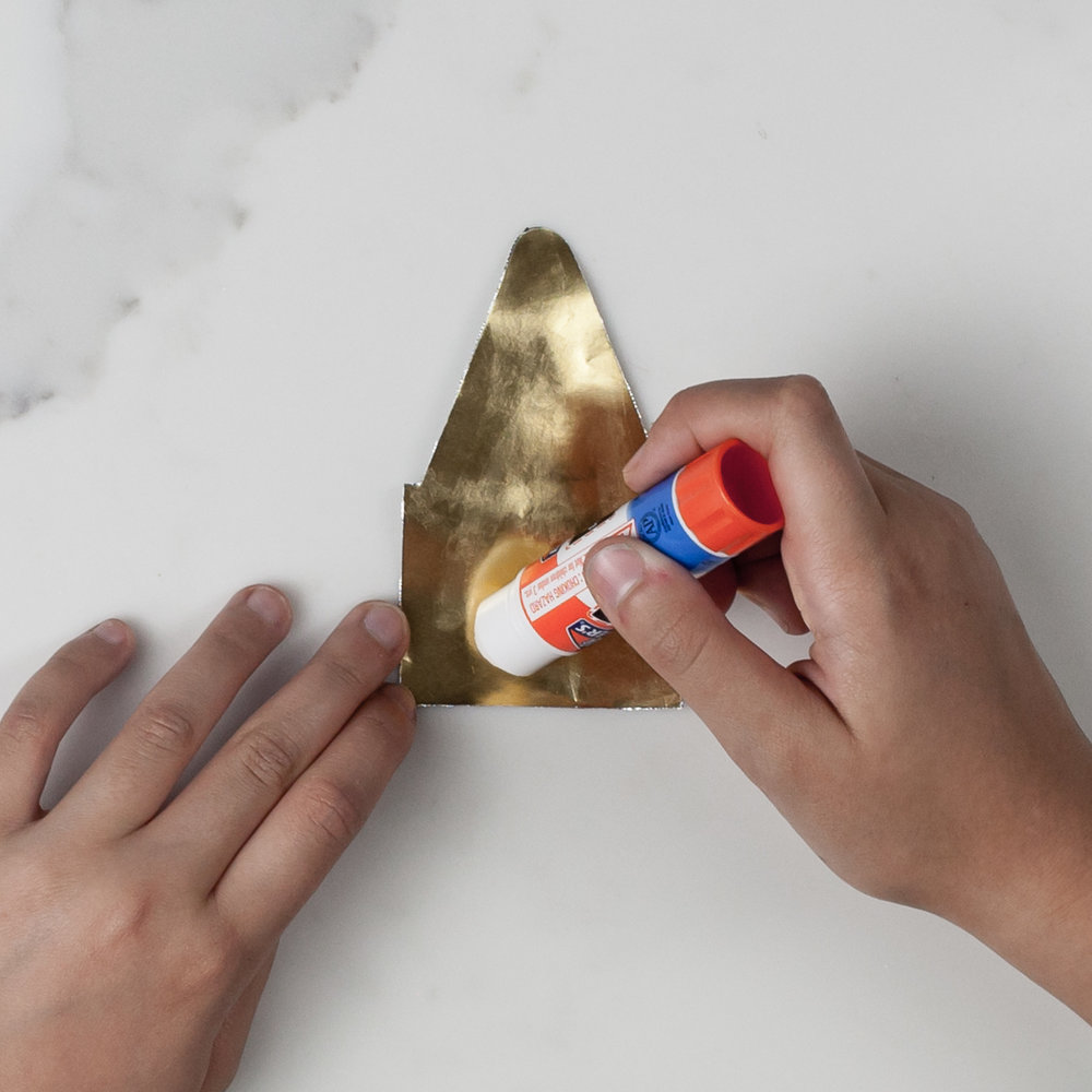 Spread glue generously