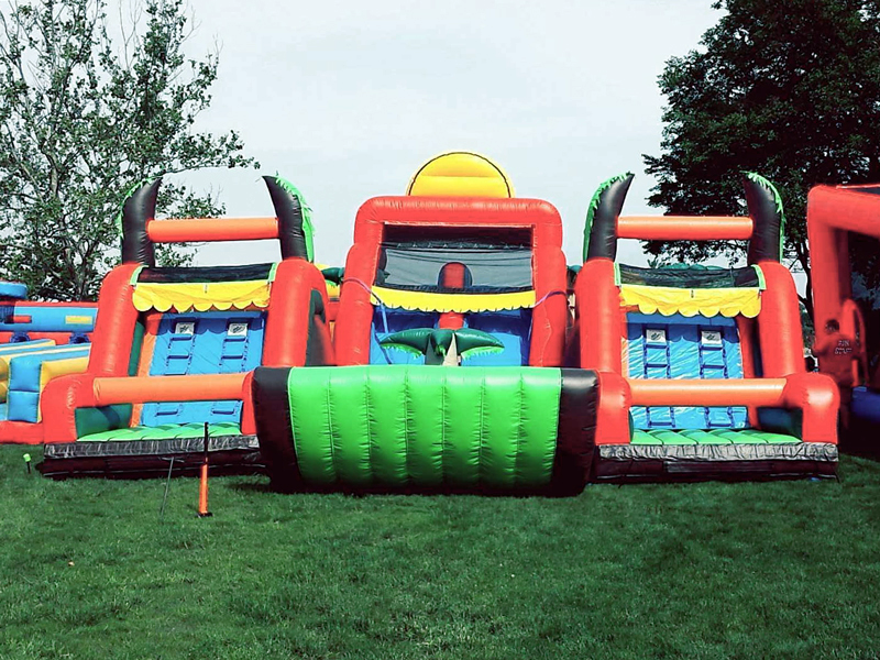 Kids will love this giant inflatable obstacle course!