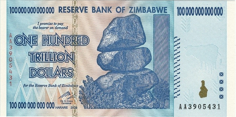Solid as a rock – the Zimbabwean Dollar.