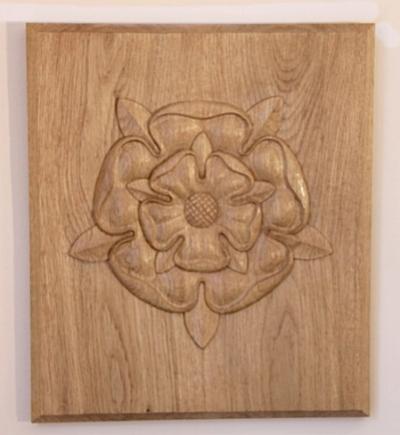 Tudor Rose in White Oak