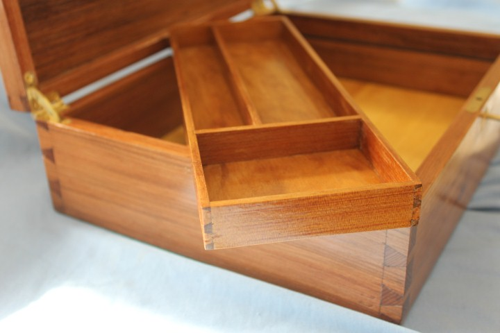 Interior tray of commemorative box - 25,000 year old reclaimed Kauri wood