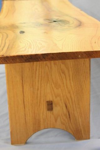 Through wedged mortise and tenon - coffee table