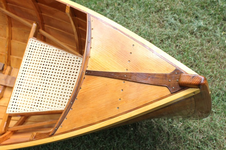 Guide Boat bookmatched pine and walnut