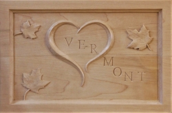 Carved in  sugar maple from a local saw mill
